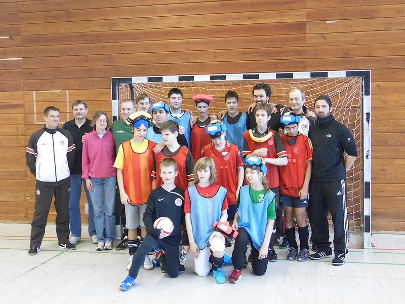 Gruppenfoto Jugendcamp mit St. Pauli Jugend in Marburg 2014